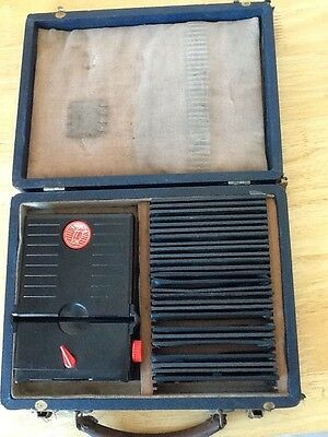 Sterolist 1930's Stereo Viewer & Stereoscopic Slides Bakelite Original Case