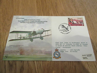 FDC Stamps 1983 Jersey 50th Anniversary First Flight of Handley Page Heyford