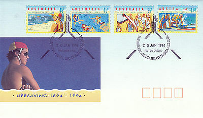 Australia 20 January 1994 Lifesaving Official First Day Cover Shs