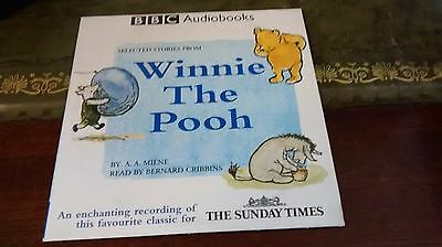 Winnie-The-Pooh A A Milne Audio Book CD 5 short stories, bernard cribbins