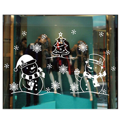 Wall Sticker Christmas Decorations For Home Window Sticker K8A9