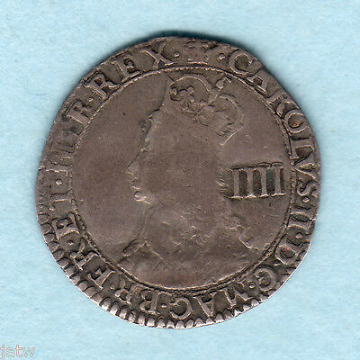 Great Britain. 1660-62  - Charles 11 Hammered Fourpence..  F/F+