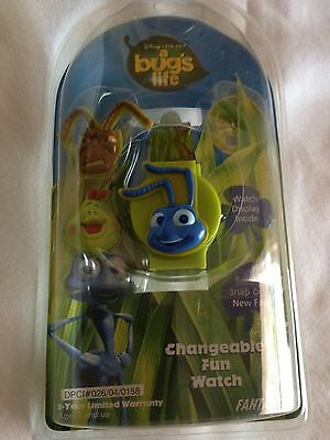 DISNEY Bugs Life Changeable Fun watch in package FANTASMA 93-710 snap on faces