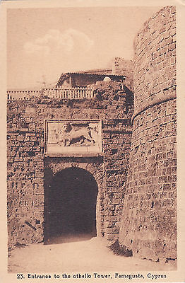 Cyprus Postcard Famagusta Entrance To The Othello Tower Avedissian No 23