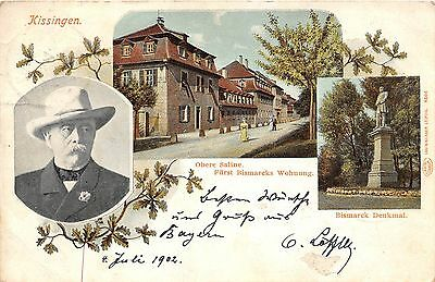 KISSINGEN GERMANY UPPER PRINCE BISMARCK'S APARTMENT SALINE POSTCARD c1902