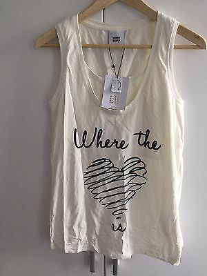 Pretty Mama Licious White Double Layer  Maternity Vest T-shirt Top Size L