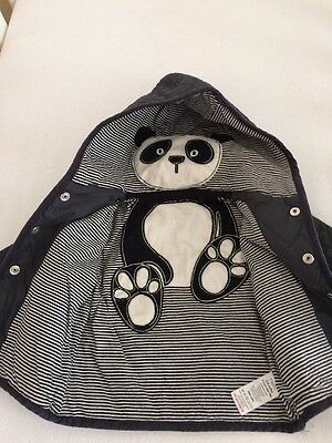 Next Baby Boy/girl Panda Coat 3-6 Months Spring Excellent Condition