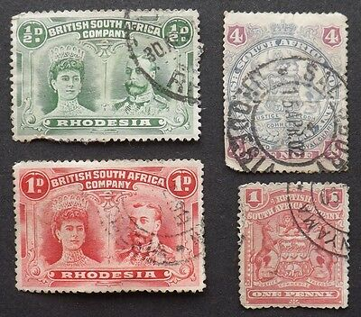 Rhodesia 1910-1913, Double Heads, Used, +