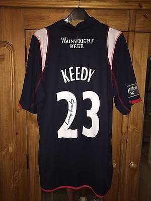 Lancashire County Cricket Club Match Worn And Signed One Day Shirt XL Gary Keedy