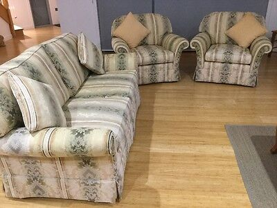 Moran 2.5 Seater Fabric Lounge and 2 Armchairs