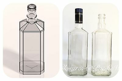 Bulk 240 x 700ml  Glass Spirits /Wine/Oil Square Bottles  with  caps included!