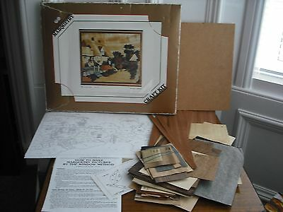 """Vintage World of Wood Marquetry Kit 530 """"A Country Lane"""" Advanced Art Veneers Co"""