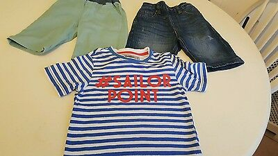 Boys  2 shorts and t-shirt 3-4 years
