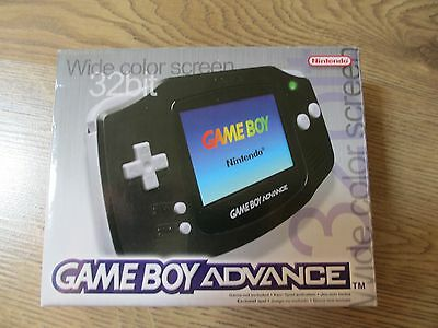 Nintendo Game Boy Advance 32 Bit BOX ONLY Black with Booklets.