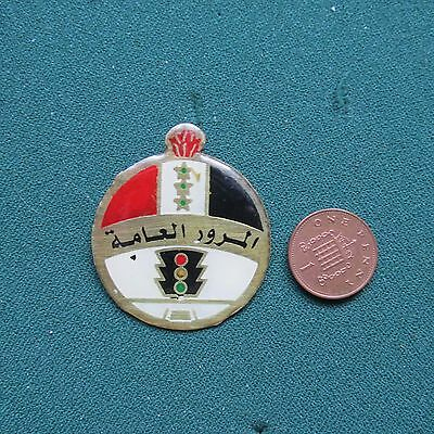 Iraqi Traffic Police Badge