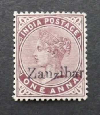 Zanzibar 1895, Queen Victoria 1 Anna mounted-mint (small Z)