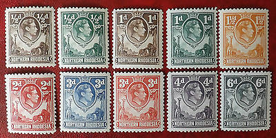 Northern Rhodesia 1938, 10 Stamps MNH