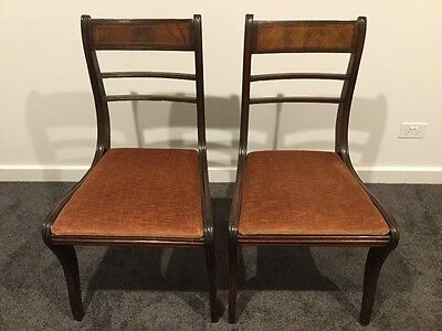 2 inlaid period chairs