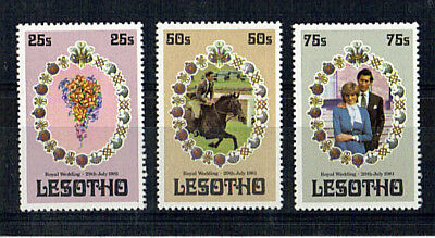 Lesotho 1981 Royal Wedding Set Of All 3 Commemorative Stamps