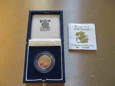 1987 Royal Mint Gold Proof HALF Sovereign as issued