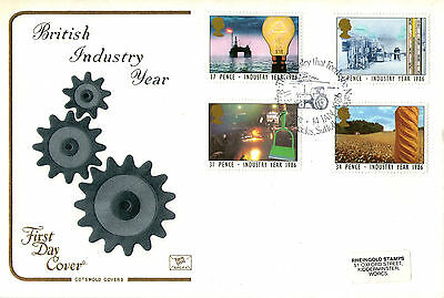 14 January 1986 Industry Year Cotswold First Day Cover Wheatacre Eccles Shs