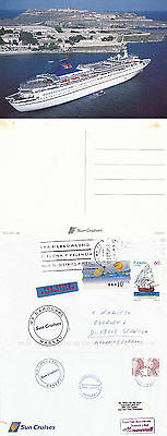 Bahamas Cruise Ship Ms Carousel 2 Ships Cached Covers & An Unused Postcard