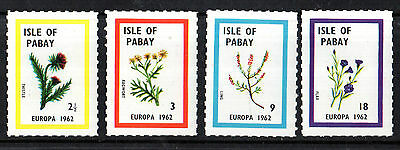 Isle Of Pabay 1962 Europa Set Of All 4 Commemorative Stamps Mnh