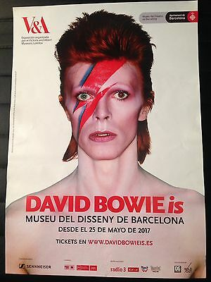 DAVID BOWIE is PROMO POSTER BARCELONA 2017 LIMITED NOT AVAILABLE IN STORES