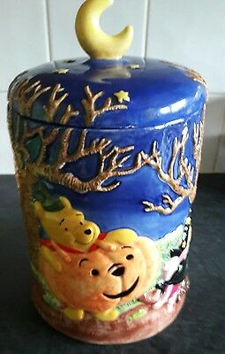 Rare Disney winnie pooh large halloween Cookie Biscuit jar Ceramic Ornament