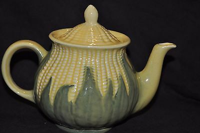 Vintage Shawnee Pottery Corn King Lidded Teapot #75