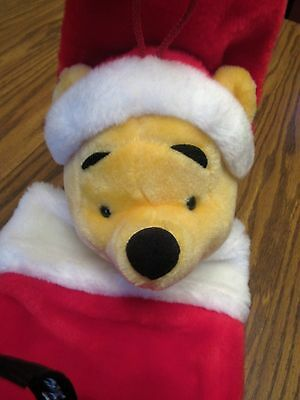 Disney Winnie The Pooh Plush Head Christmas Stocking