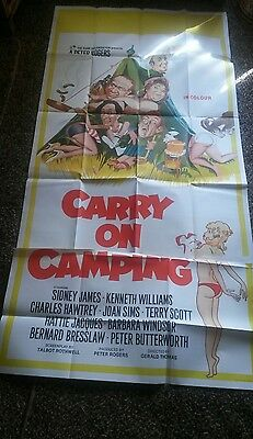 Carry on Camping Original 3sheet Comedy film poster