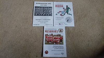 3 WORKINGTON PROGRAMMES (different seasons)