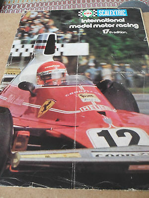 SCALEXTRIC SLOT CAR TOY CATALOGUE 1976 17th EDITION FAIR FOR AGE