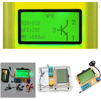 DIY Clear Acrylic Case Shell For Mega328 LCR-T4 12846 LCD Transistor Tester