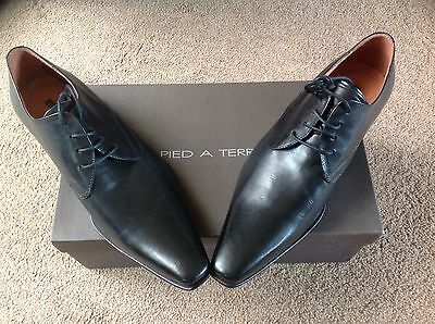 "Black Pied a Terre Shoes Leather Uppers & S size 7 ""Ideal Prom Shoes""New In Box"