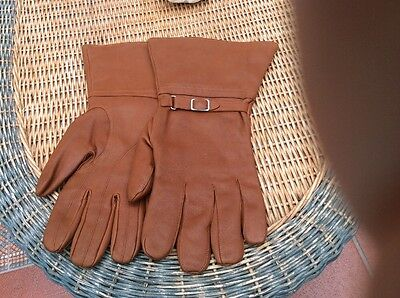 Dunhill Tan Leather Motoring Gloves