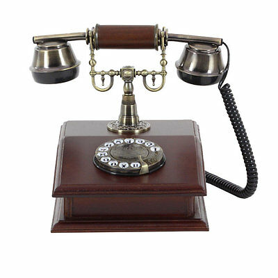 Darby Home Co® Stylish Wood Telephone