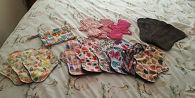 Reusable/ Washable Sanitary Pads,  towel /  Cloth Pads. , Starter Pack  X 18