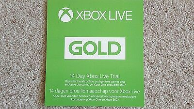 1 x  Xbox Live 14 day Gold Membership Trial (Some Codes May Be 2 X 7 Days)