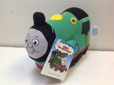 """NWT VINTAGE Thomas & Friends PERCY THE SMALL ENGINE Plush Toy Train 7"""" Eden NEW"""