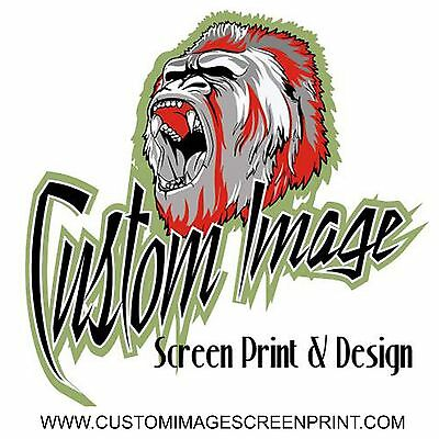 25 Custom Heat Transfer 2 Color Plastisol Ink
