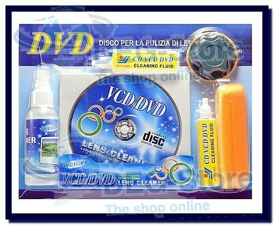 Nuovo Kit Per Pulizia Dvd Vcd Ps2 Ps3 Xbox Lettore Cd Pulisci Lente Lens Cleaner