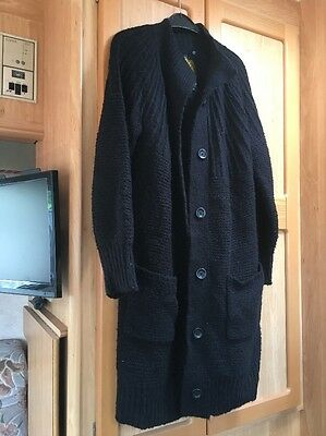 Next Ladies Long Cardigan Chunky Knit Size 14