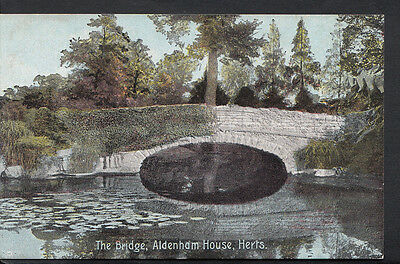 Hertfordshire Postcard - The Bridge, Aldenham House RS3485