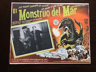 Original THE BEAST FROM 20,000 FATHOMS (1953) Mexican Lobby Card Horror Sci-Fi