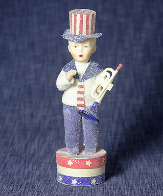 Benjamin Braven Boy Figurine by Margaret Haire New 4th Of July Americana