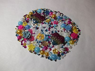 Flat Back Mix Embellishments Decoden Cabochon Flowers Pearls Rhinestones Hearts