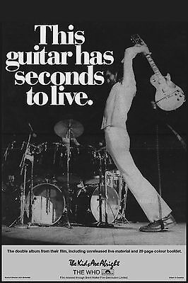 The Who - This guitar has seconds to live poster - Pete Townshend, Les Paul