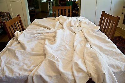 "French Cotton Linen Bed Sheet Really Huge! 112"" x 110"" as-is"